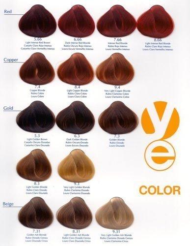 Bardzo dobra Yellow Color Farba do włosów 5.64 - jasny czerwony miedziany brąz JA01