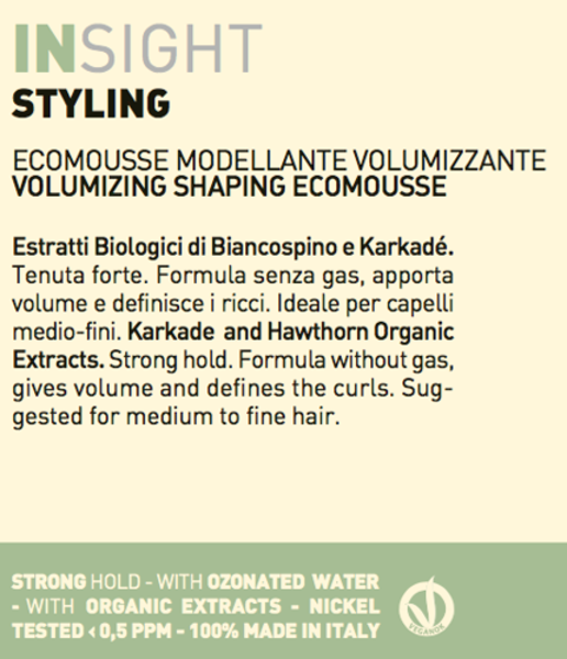 Insight Volumizing & Modelling Ecomousse 150ml